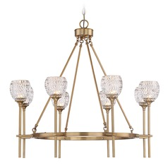 Savoy House Lighting Garland Warm Brass Chandelier