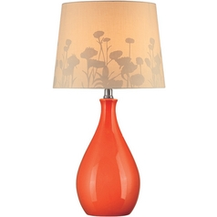 Lite Source Lighting Edaline Orange Table Lamp with Drum Shade