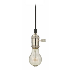 Design Classics Lighting Early Electric Mini-Pendant Light with Vintage Edison Bulb - 40-Watts CA1-15 40A19 FILAMENT