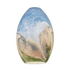 Earth Oval Art Glass Shade
