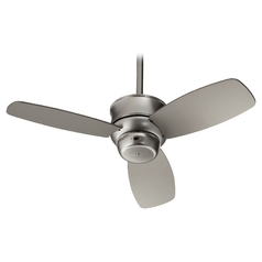 Quorum Lighting Gusto Satin Nickel Ceiling Fan Without Light