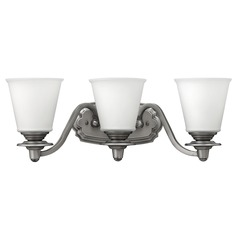 Hinkley Lighting Plymouth Polished Antique Nickel Bathroom Light