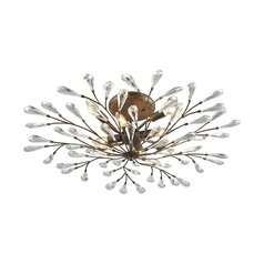 Elk Lighting Crislett Sunglow Bronze Semi-Flushmount Light