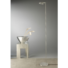 Holtkoetter Modern LED Torchiere Lamp in Satin Nickel Finish