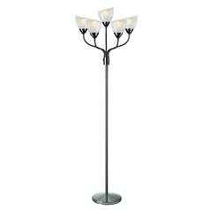 Lite Source Lighting Elitia Gun Metal Floor Lamp