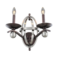 Kalco Lighting Rothwell Polished Satin Nickel Sconce