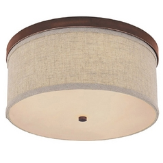 Capital Lighting Burnished Bronze Flushmount Light