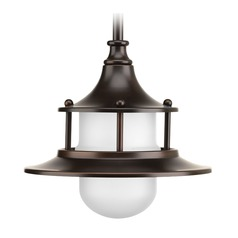 Progress Lighting Parlay Antique Bronze LED Mini-Pendant Light with Bowl / Dome Shade