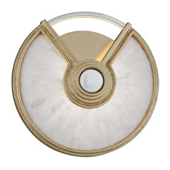 Modern Art Deco LED Sconce Gold Leaf / Stainless Venturi by Corbett Lighting