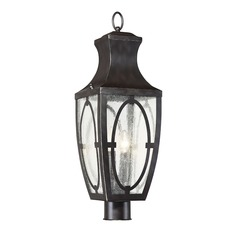 Bronze Post Light Shelton Collection by Savoy House