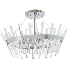 Minka Lavery Echo Radiance Chrome Semi-Flushmount Light
