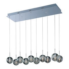 Modern Low Voltage Pendant Light with Clear Glass in Polished Chrome Finish
