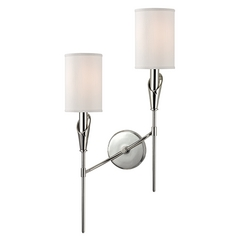 Mid-Century Modern Sconce Polished Nickel Tate by Hudson Valley Lighting