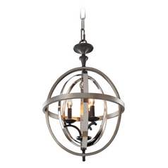 Kalco Lighting Rothwell Polished Satin Nickel Pendant Light