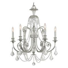 Crystorama Lighting Regis Olde Silver Crystal Chandelier