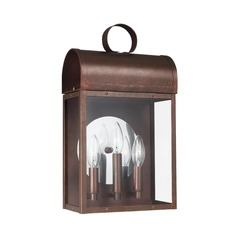 Sea Gull Lighting Conroe Weathered Copper LED Outdoor Wall Light