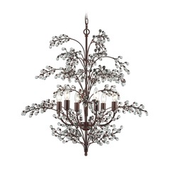 Elk Lighting Winterberry Antique Darkwood Chandelier