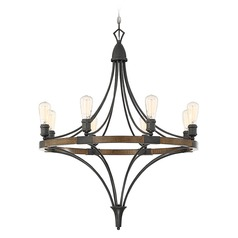 Savoy House Lighting Turing Whiskey Wood Chandelier