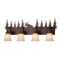 Yellowstone Burnished Bronze Bathroom Light by Vaxcel Lighting