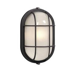 Oval Marine Bulkhead Light In Black Finish