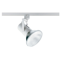 Track Light Head in White Finish