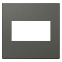 Legrand Adorne Soft Touch Moss Grey 2-Gang Switch Plate