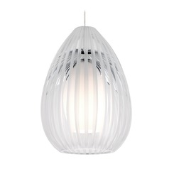 Ava Chrome Mini-Pendant Light with Teardrop Shade by Tech Lighting