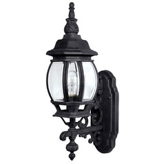 Capital Lighting French Country Black Outdoor Wall Light