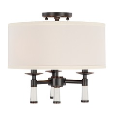 Crystorama Lighting Baxter Oil Rubbed Bronze Semi-Flushmount Light