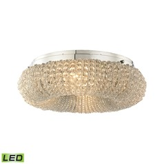 Elk Lighting Crystal Ring Polished Chrome LED Semi-Flushmount Light