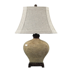 Table Lamp with Grey Shade in Sky Valley with Bronze Finish