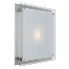 Access Lighting Vision Brushed Steel Flushmount Light