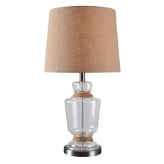 Kenroy Home Anderson Clear with Rope Accents Table Lamp with Empire Shade
