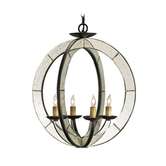 Modern Pendant Light in Old Iron/antique Mirror Finish