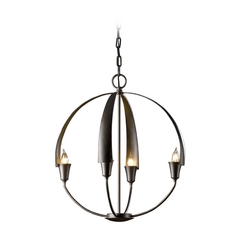 Forged Iron Small Orb Pendant Chandelier Light