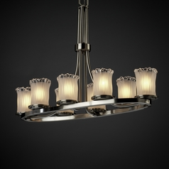 Justice Design Veneto Luce 8-Light Chandelier in Brushed Nickel
