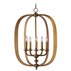 Maxim Lighting Fairmont Natural Aged Brass Pendant Light