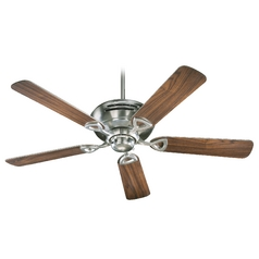 Quorum Lighting Hoffman Satin Nickel Ceiling Fan Without Light