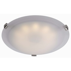 Kenroy Home Lighting Aero Brushed Steel LED Flushmount Light