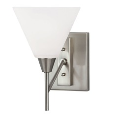 Mid-Century Modern Sconce Brushed Nickel Ashburne by Sea Gull Lighting