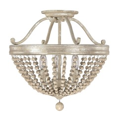Capital Lighting Adele Silver Quartz Semi-Flushmount Light