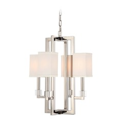 Crystorama Lighting Dixon Polished Nickel Mini-Chandelier