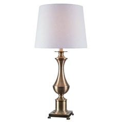 Kenroy Home Isaac Antique Brass Table Lamp with Empire Shade