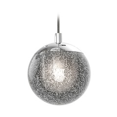 Sonneman a Way Of Light Champagne Bubbles Polished Chrome LED Mini-Pendant Light with Globe Shade