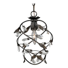 Trellis Architectural Bronze with Gold Accents Mini-Pendant Light by Vaxcel Lighting