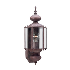 Outdoor Wall Light with Clear Glass in Sienna Finish
