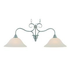 Craftmade Linden Lane Satin Nickel Island Light with Bowl / Dome Shade
