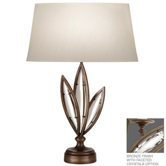 Fine Art Lamps Marquise Antique Hand Rubbed Bronze Table Lamp with Oval Shade