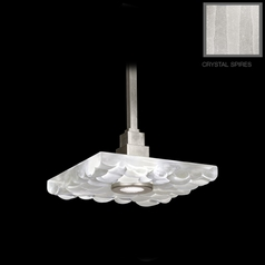 Fine Art Lamps Crystal Bakehouse Silver Leaf Pendant Light with Square Shade
