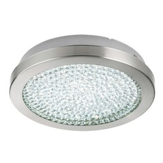 Eglo Arezzo 2 Matte Nickel LED Flushmount Light